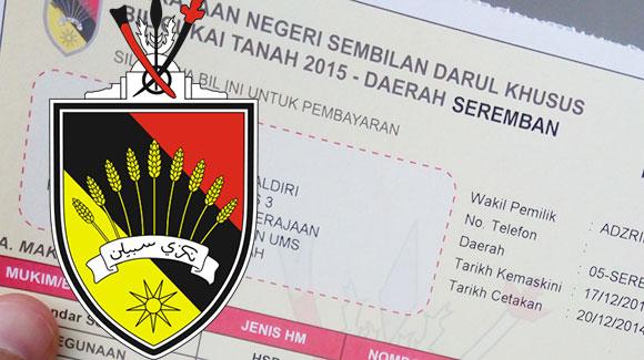 Cara Bayar Online Cukai Tanah Kerajaan Negeri Sembilan ...