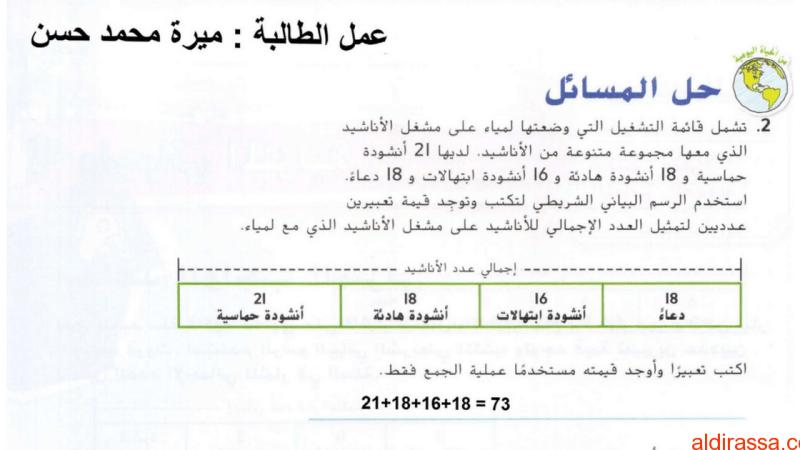 حل الدروس الخمسة الأولى وحدة التعابير والأنماط رياضيات الصف الخامس الفصل الثاني