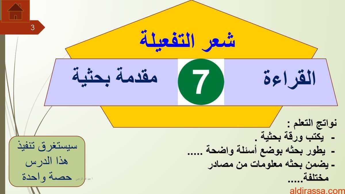 درس شعر التفعيلة مع الاجابات لغة عربية الصف الثاني عشر