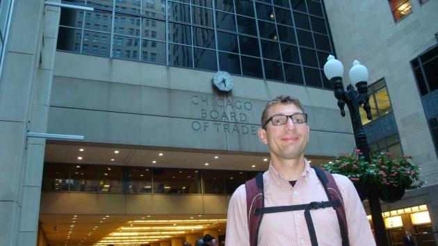 Patrick Bigger at the Chicago Board of Trade