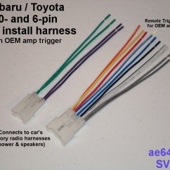 Fujitsu Ten Wiring Diagram Subaru Unlabeled Eye Real Radio Adapter (harness) For And Toyota
