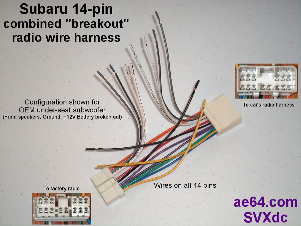 20-pin Combined Wiring Harness For Subaru Impreza