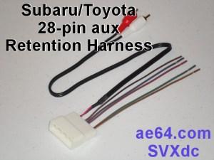 28pin AuxSWC Retention Harness for Subaru, Scion, and Toyota