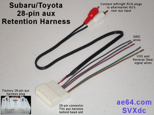 small resolution of picture of subaru 28 pin aux retention harness