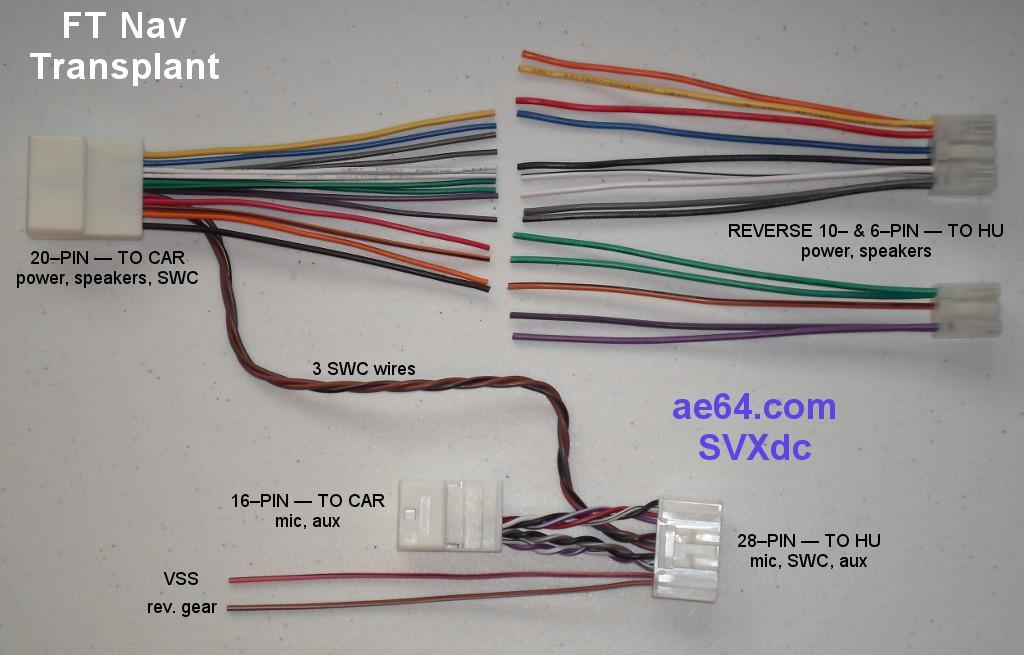 fujitsu ten car audio wiring diagram 2001 saturn sc2 radio subaru navigation transplant harness ft parts