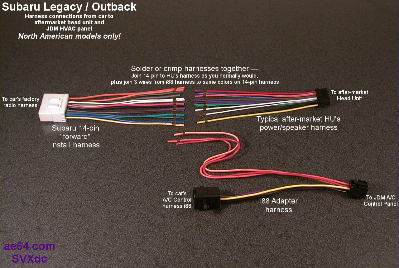 subaru legacy stereo wire harness