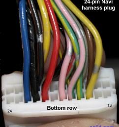 factory 24 pin navi harness plug bottom [ 1064 x 1400 Pixel ]