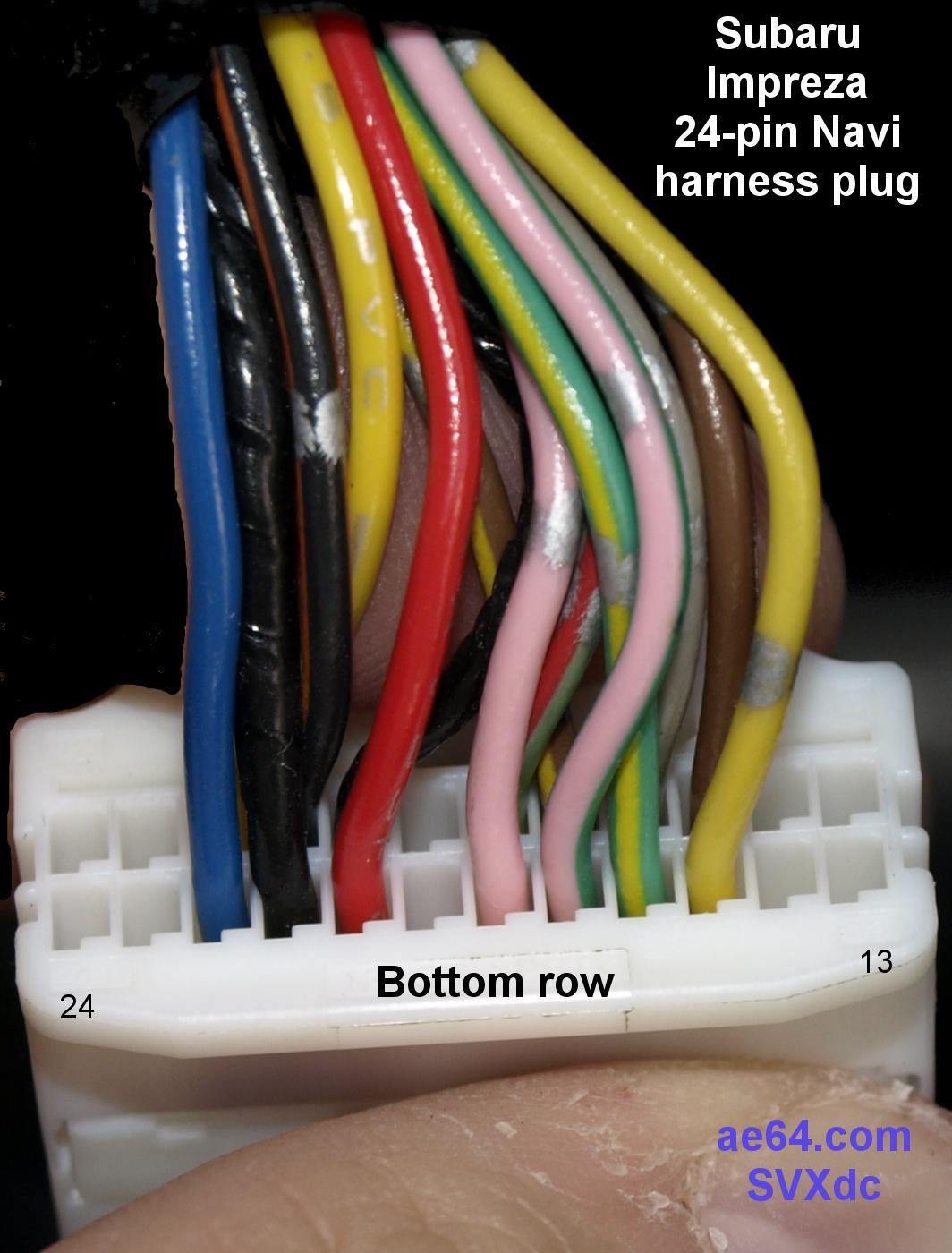 hight resolution of  factory 24 pin navi harness plug bottom