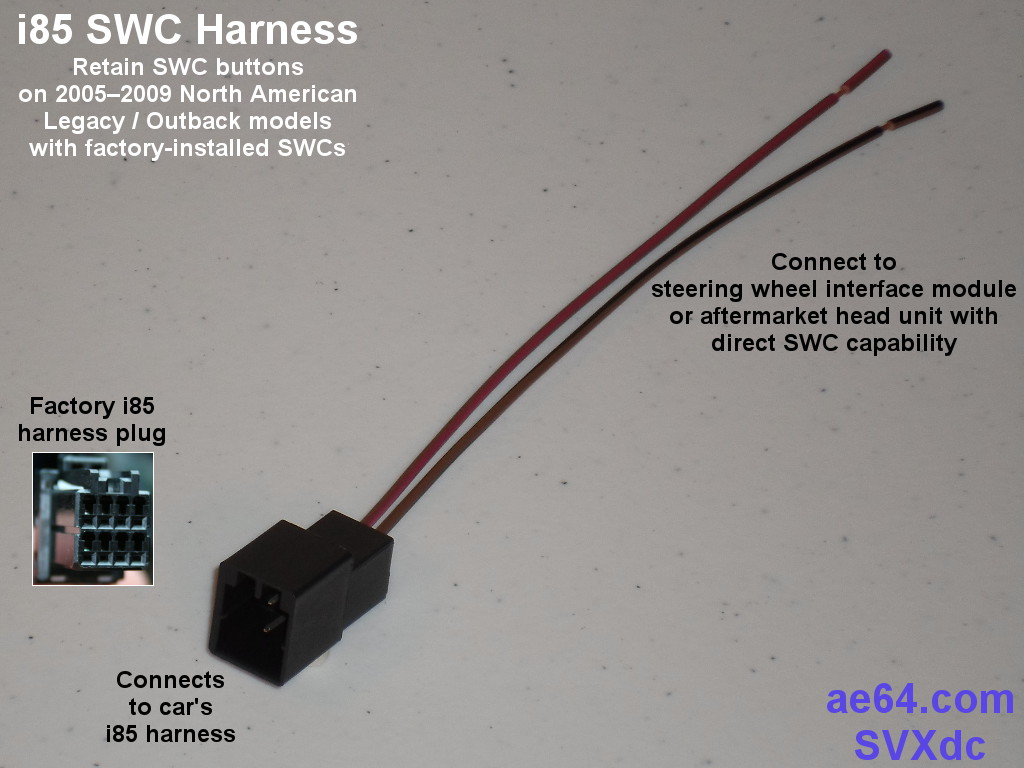 hight resolution of i85 harness with swc wires