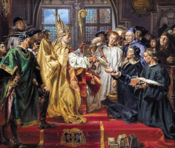 The founding of the Lubrański Academy in 1518, painted by Jan Matejko (1886)