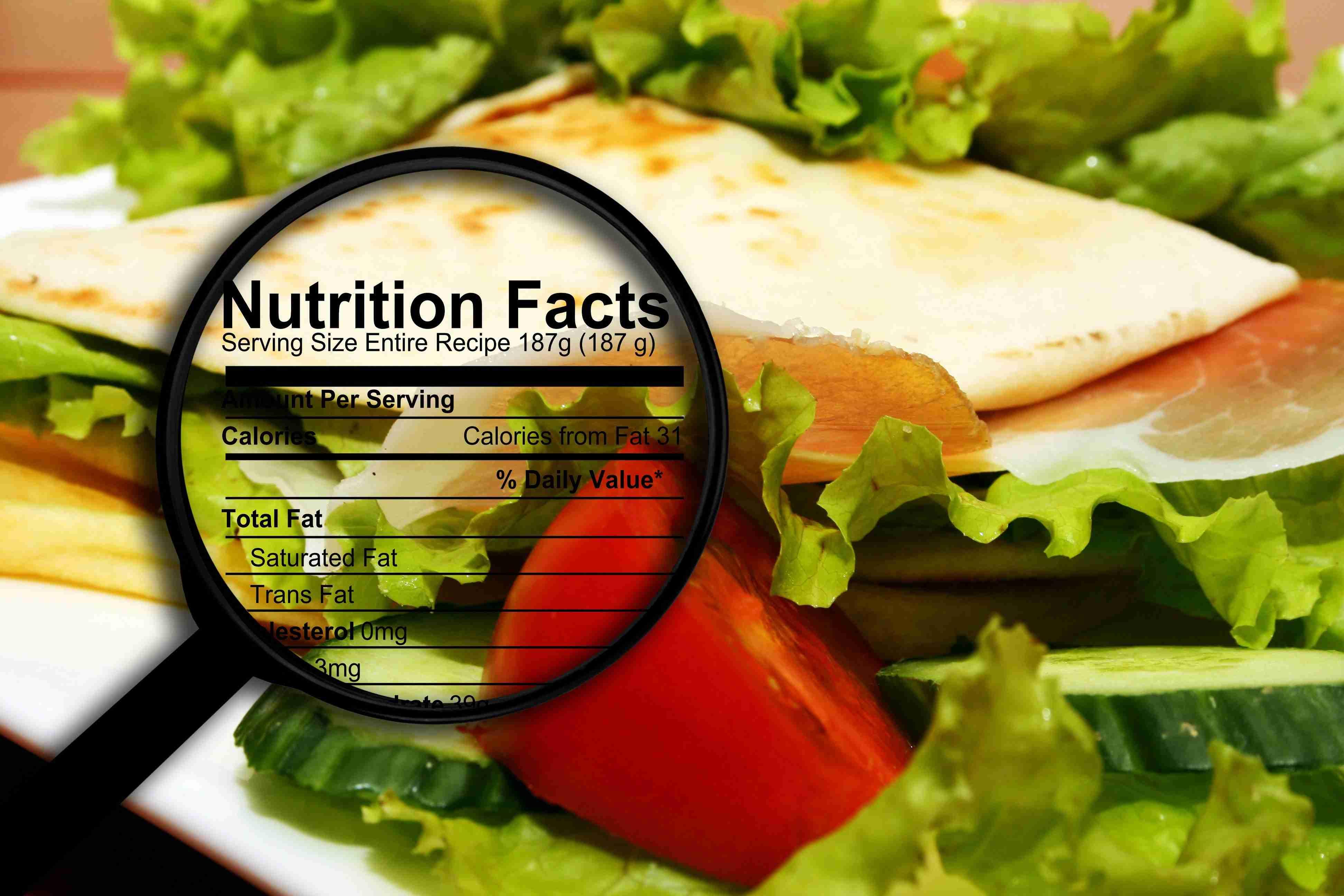 Programma per calcolare le tabelle dei valori nutrizionali