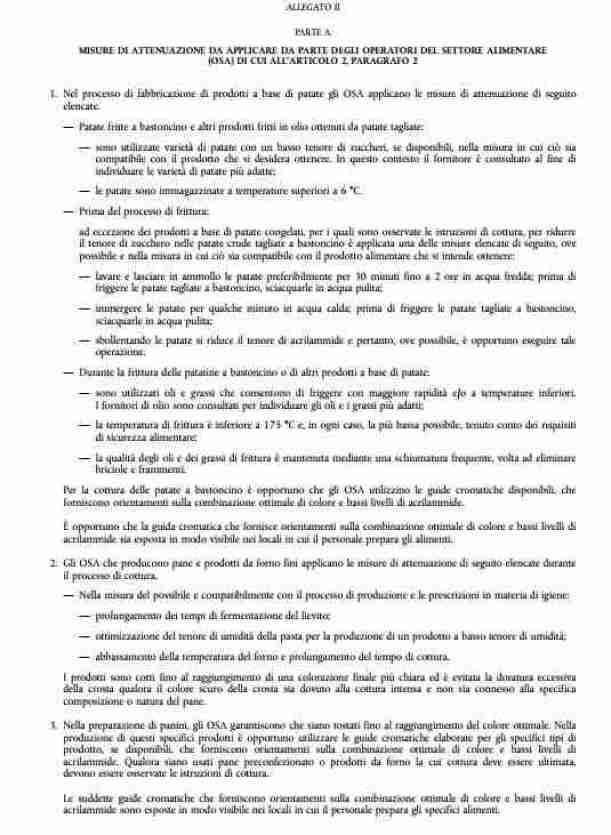allegato ii parte A del regolamento UE 2017-2158