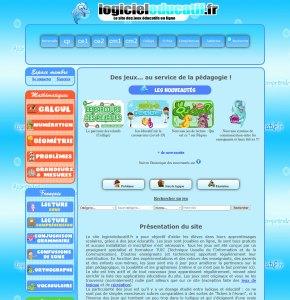 aperçu du site internet logiciels éducatifs