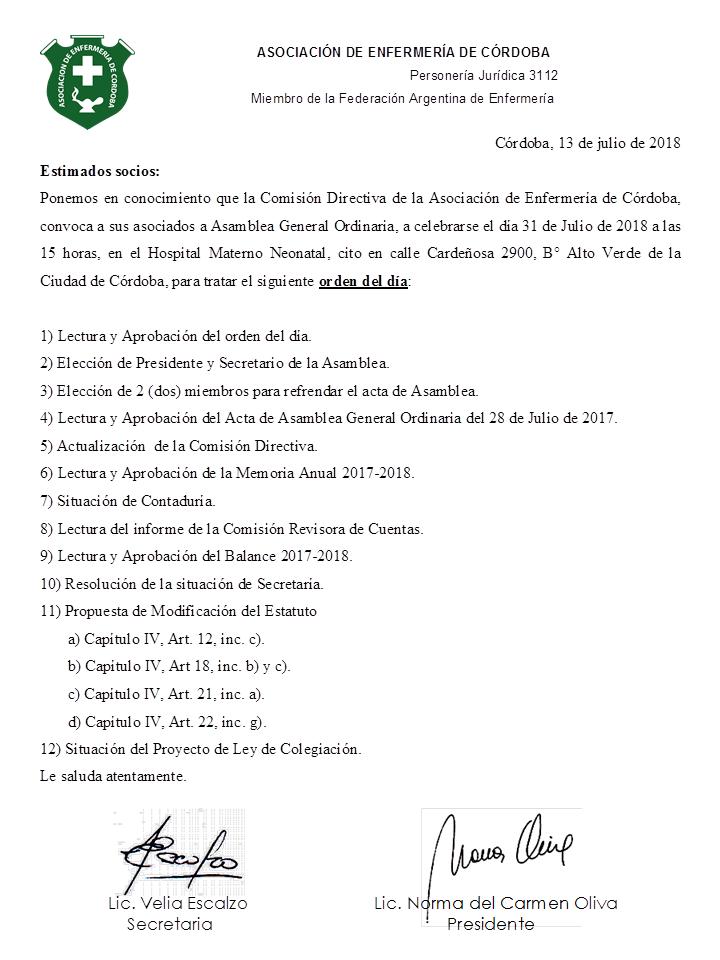 Asamblea Ordinaria 1