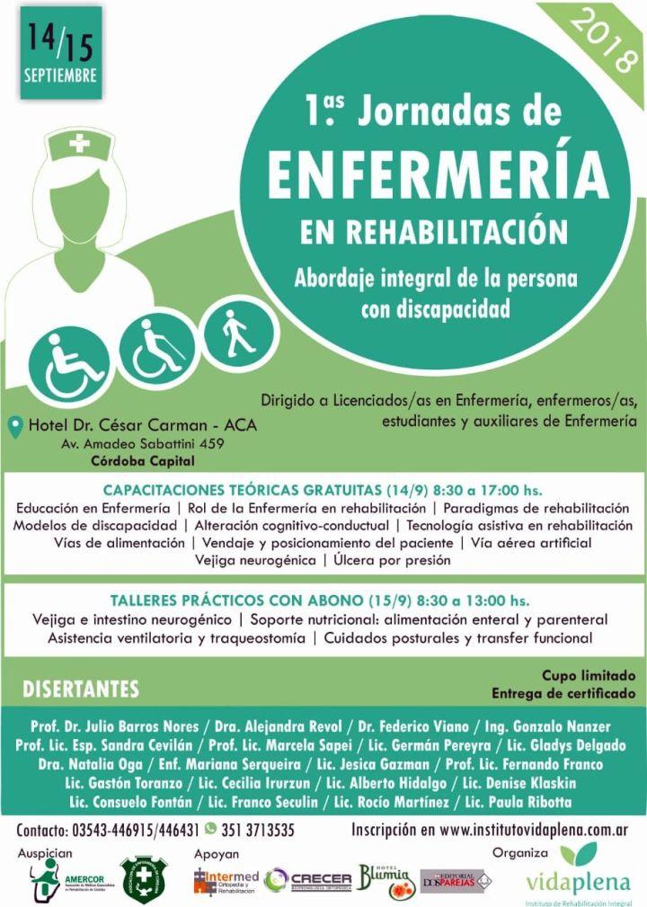 1° Jornadas de Enfermería en Rehabilitación