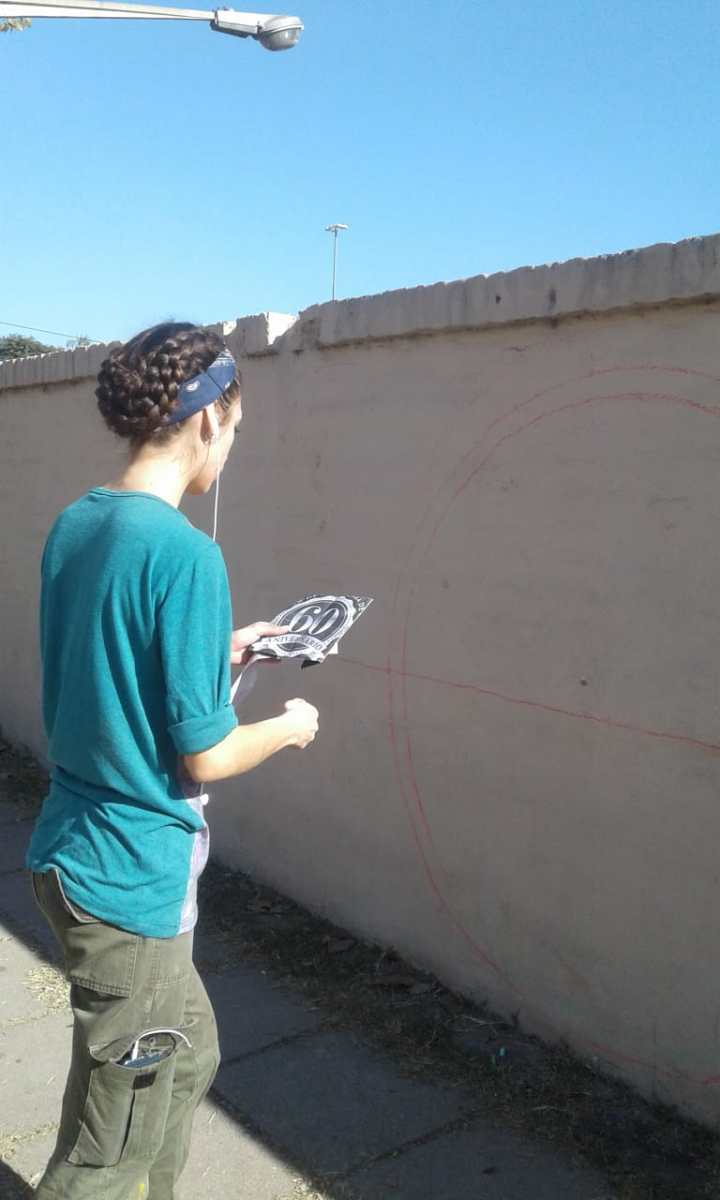 Actividades por los 60 años de AEC - Pintada de Mural - 9