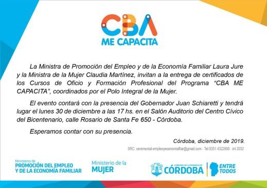"30 de diciembre de 2019: Entrega de certificados ""CBA ME CAPACITA"" 1"