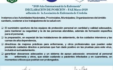Declaración de posición de AEC ante pande
