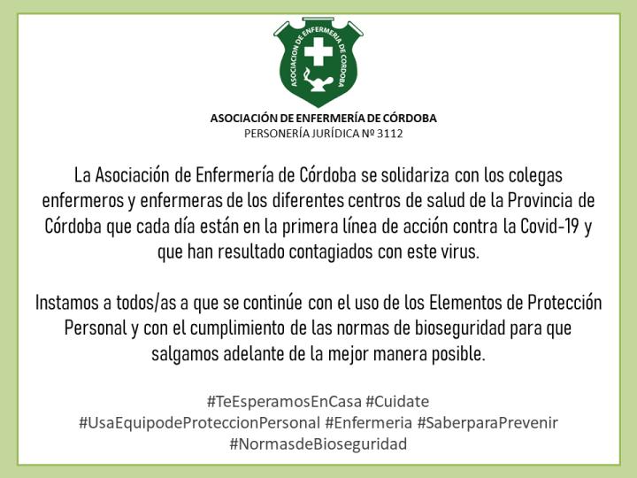 AEC se solidariza con los colegas contagiados de Covid-19
