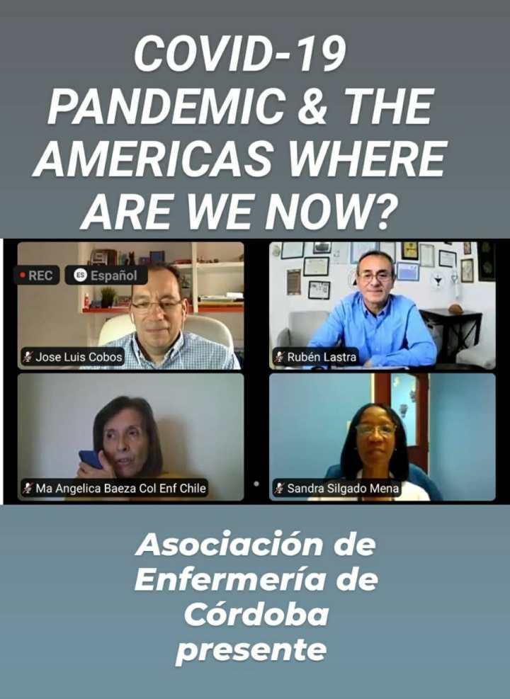"""Webinario del Consejo Internacional de Enfermeras (CIE): """"COVID-19 PANDEMIC & THE AMERICAS WHERE ARE WE NOW?"""