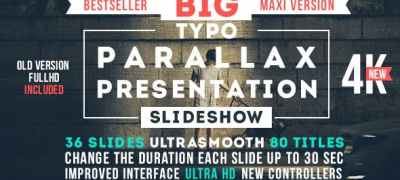 Big Typo Parallax Presentation