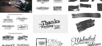 70 Grunge Titles & Brush Toolkit