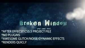 Dynamic Glitch & Noise Logo Opener
