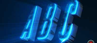 Alphabet 3D Neon LED - Abc And Social Media Icons