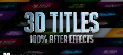 3D Titles - No Plugins