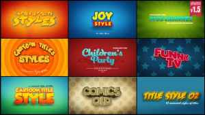 Cartoon Titles Styles