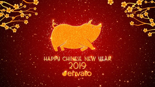 Download Chinese New Year Greetings 2019 Free Videohive After Effects Projects