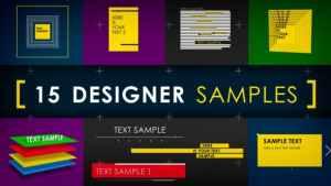 15 Designer Samples (Pack)