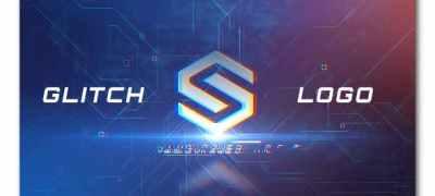 Digital Glitch Logo Intro