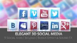 Elegant 3D Social Media
