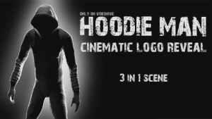 Hoodie Man - Cinematic Logo Reveal 3 in 1