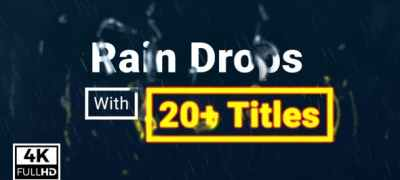 Rain Drops With Titles