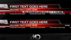 Broadcast News Lower Thirds