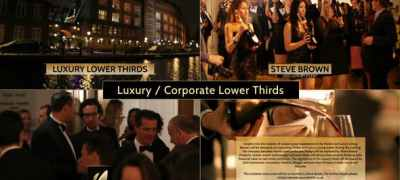 Luxury / Corporate - Lower Thirds Package