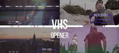 VHS Opener // Modern Glitch Slideshow