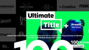 Ultimate Text | 100 Titles Animation