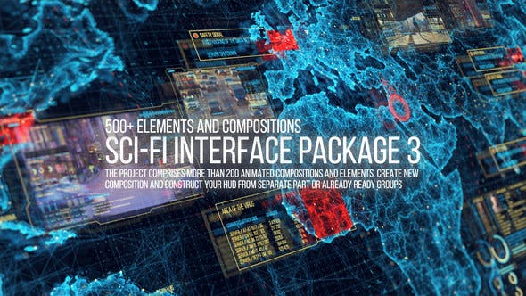 After Effects Projects | Download Sci-fi Interface HUD