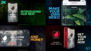 Modern mobile app promo