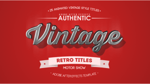 25 Animated Vintage Titles