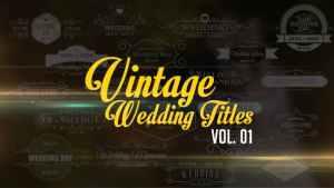 Vintage Wedding Titles vol. 01