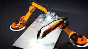 Robot arms welding