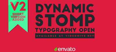 Dynamic Stomp Typography Open