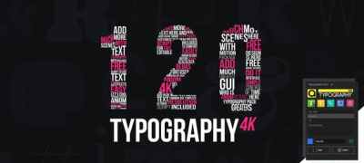 Kinetic Typography 4K Package | Typography Tool