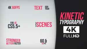Kinetic Typography 4K