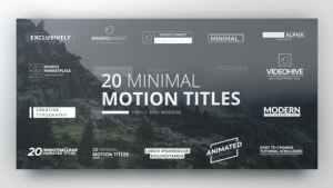 Clean Minimal Titles