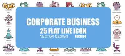 Corporate Business - Flat Animation Icons
